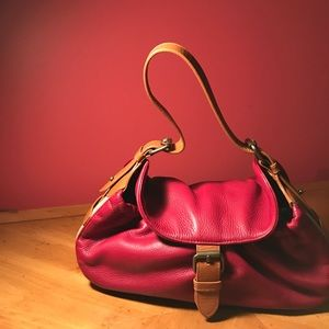 Dark red leather Cynthia Rowley handbag
